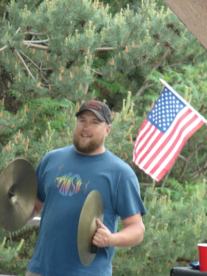 Big Richie Krasco Plays the Cymbals on Rainy Day Women