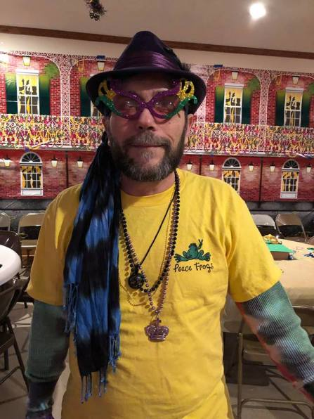 Big Chief Rick of the Cheesers Krewe at Mardi Gras