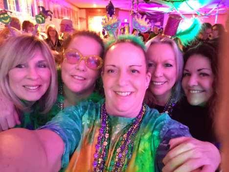 Revelers at Mardi Gras 2019